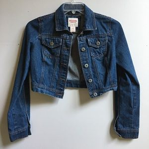 Mossimo Cropped Denim Jacket Small